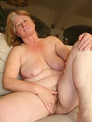 Filthy grandma getting fucked nasty!